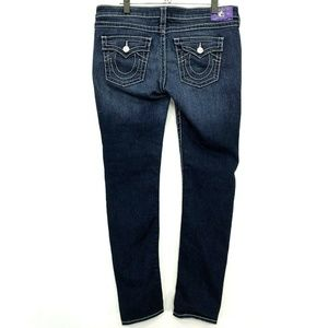 True Religion Skinny with Flaps Jeans Womens Sz 33